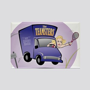 Tennis Team Logo for The Teamsters Rectangle Magne