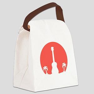 Sunset Ukulele Canvas Lunch Bag
