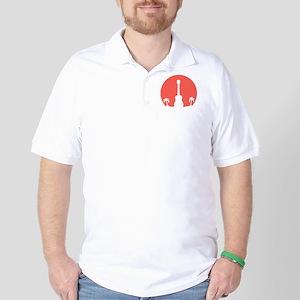 Sunset Ukulele Golf Shirt