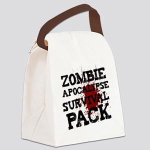 Zombie Apocalypse Survival Pack Canvas Lunch Bag