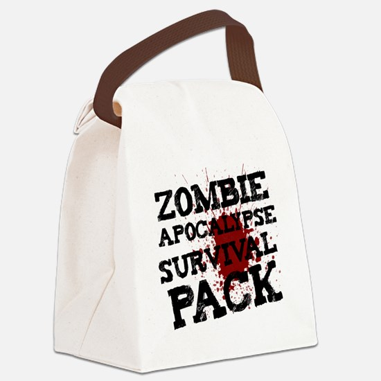 Zombie Apocalypse Survival Pack Canvas Lunch Bag