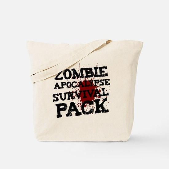 Zombie Apocalypse Survival Pack Tote Bag