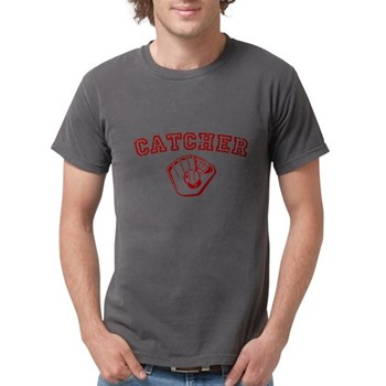 Catcher - Red Mens Comfort Colors Shirt