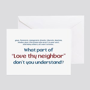 love thy neighbor greeting cards pk of 10 - Christian Greeting Cards