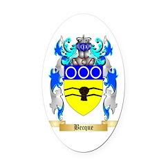 Becque Oval Car Magnet