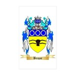 Becque Sticker (Rectangle 50 pk)