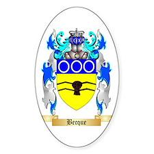 Becque Sticker (Oval)