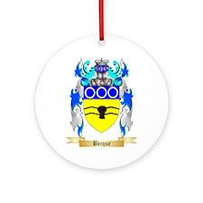 Becque Ornament (Round)
