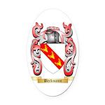 Beckmann Oval Car Magnet