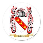 Beckman Round Car Magnet