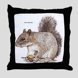 Gray Squirrel Animal Throw Pillow