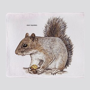 Gray Squirrel Animal Throw Blanket