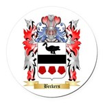 Beckers Round Car Magnet
