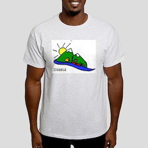 Kayak Shirt- Paddle Past the  Ash Grey T-Shirt