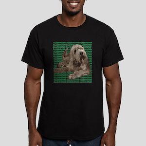 otterhound Men's Fitted T-Shirt (dark)