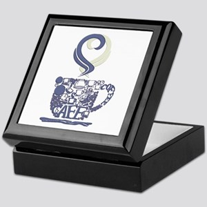 Coffee Cup Art Keepsake Box