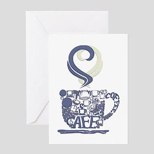 Coffee Cup Art Greeting Card