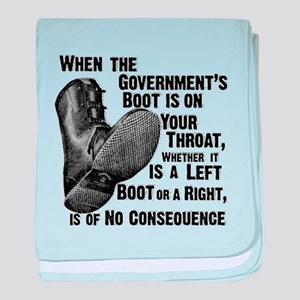 Government Boot baby blanket