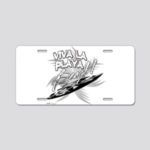 Beach Surf Aluminum License Plate