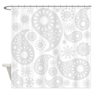 Grey Paisley Shower Curtains