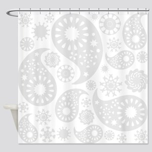 Gray Paisley Shower Curtain