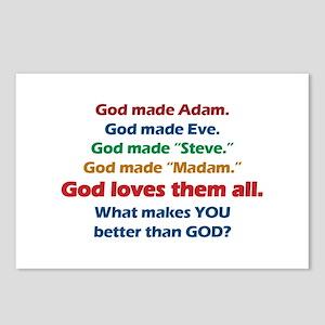 God Loves All Postcards (Package of 8)
