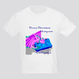 Never Tickle a Sleeping Dragon Kids T-Shirt