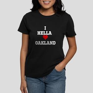 Women's Dark T-Shirt Heart Oakland
