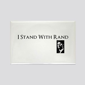 I Stand With Rand Rectangle Magnet
