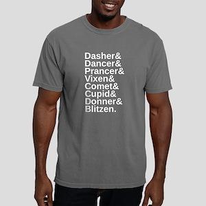 Modern Reindeer Names Mens Comfort Colors Shirt