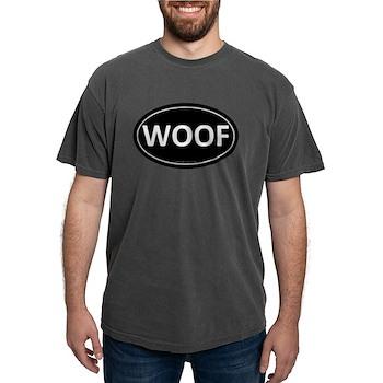 WOOF Black Euro Oval Mens Comfort Colors Shirt