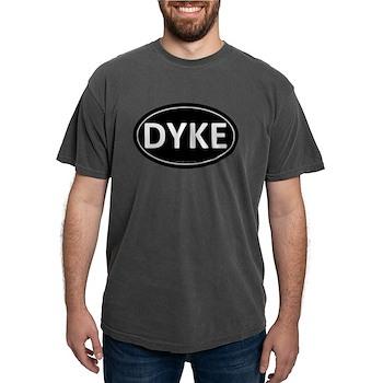 DYKE Black Euro Oval Mens Comfort Colors Shirt
