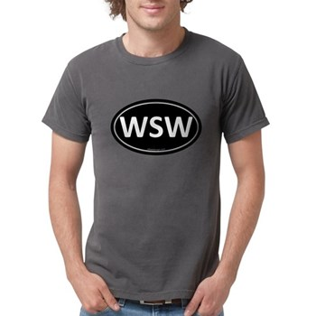 WSW Black Euro Oval Mens Comfort Colors Shirt