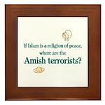 Amish Terrorists Framed Tile