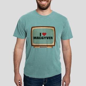 Retro I Heart MacGyver Mens Comfort Colors Shirt