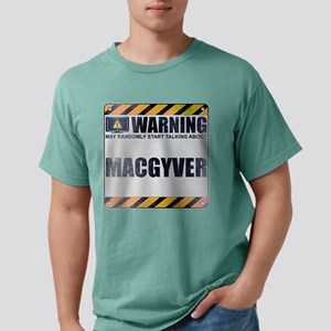 Warning: MacGyver Mens Comfort Colors Shirt