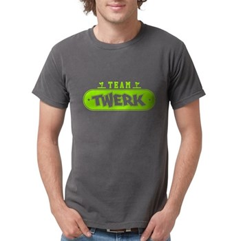 Neon Green Team Twerk Mens Comfort Colors Shirt
