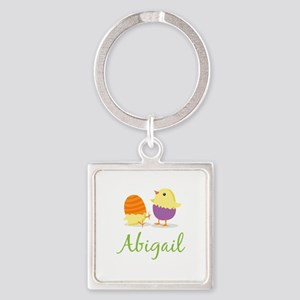 Easter Chick Abigail Square Keychain