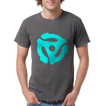 Turquoise Distressed 45 RPM Mens Comfort Colors Sh