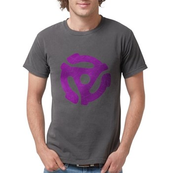 Purple Distressed 45 RPM Adap Mens Comfort Colors