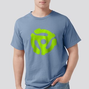 Lime Green Distressed 45 RPM Mens Comfort Colors S