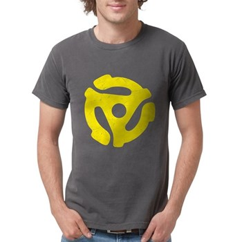 Yellow Distressed 45 RPM Adap Mens Comfort Colors