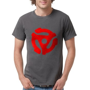 Red Distressed 45 RPM Adapter Mens Comfort Colors