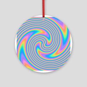 Colorful Swirl Design. Ornament (Round)