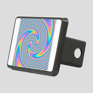 Colorful Swirl Design. Hitch Cover
