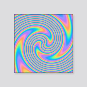 Colorful Swirl Design. Sticker