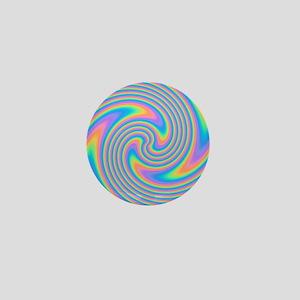 Colorful Swirl Design. Mini Button