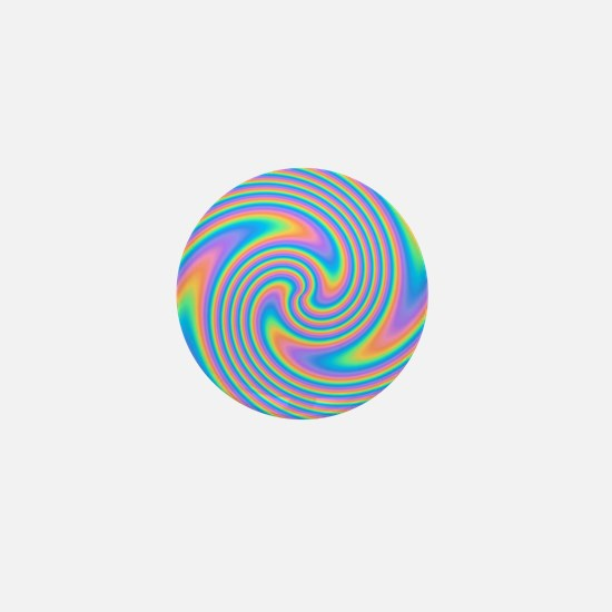 Colorful Swirl Design. Mini Button