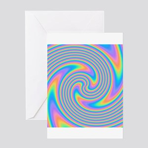 Colorful Swirl Design. Greeting Card