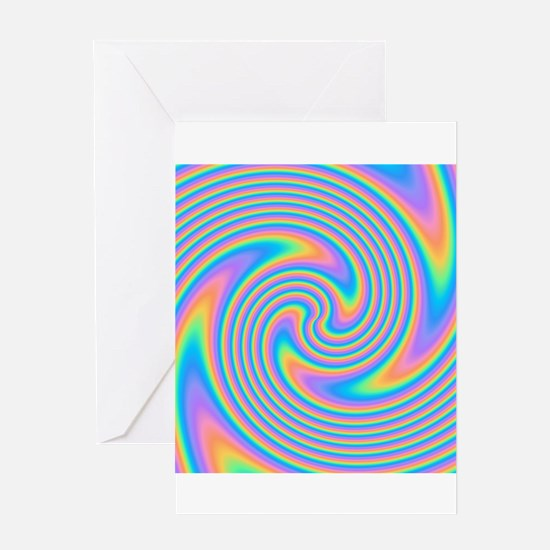 Colorful Swirl Design. Greeting Card
